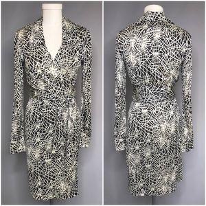 Diane Von Furstenberg Classic Silk Knit Wrap Dress